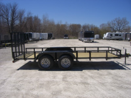 Parker Performance 77 X 16 Steel Light Angle Tandem Landscape Utility Trailer With Ramp Gate