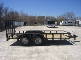 Parker Performance 77 X 14 Steel Light Angle Tandem Landscape Utility Trailer With Ramp Gate