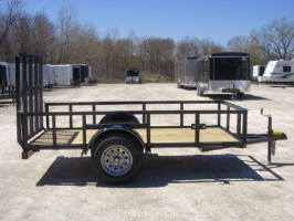 Parker Performance 5 x 10 Steel Angle Iron Utility Trailer With Ramp Gate
