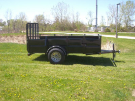 Parker Performance 5 X 12 Highster Steel Utility Trailer With Ramp Gate
