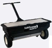 SaltDogg WB400 Commercial Residential Large Capacity Walk Behind Salter Spreader