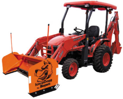ScoopDogg Model 2604110 Compact Snow Pusher - 10 Foot Wide Pusher For 4,500+ lb. Compact Tractors