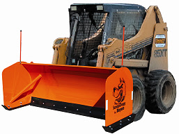 ScoopDogg Model 2613108 Trip Edge Skid-Steer Snow Pusher - 8 Foot Wide Pusher For 5,500+ lb. Skid-St