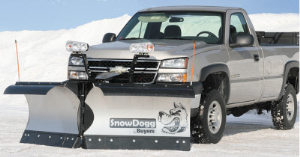 Snowdogg VXF85 Stainless Steel Heavy Duty V-Plow with Regenerative Hydraulics