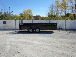 Parker Performance 77 x 16 Highster Steel Tandem Axle Utility Trailer With Ramp Gate
