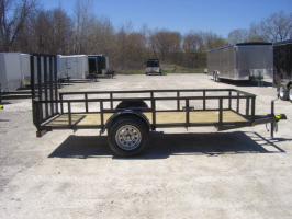 Parker Performance 5 x 14 Steel Angle Iron Utility Trailer With Ramp Gate