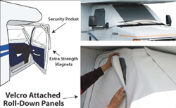 RV windshield cover