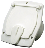 JR Products S-27-10-A Square Polar White Cable Hatch