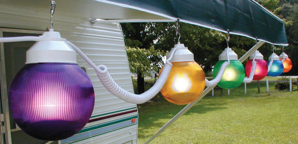 Buy Party Lights And Patio Decorations From Hanna RV To Bring Your RV Outdoor Entertainment To Life! We Have Many Exciting Decorations And Lighting Including Different Themed String Party Lights Such As Racing, RVs, Cactuses, Stars, American Flags, Fuzzy Dice, Flamingos and Palm Trees! Fun RV Awning Decorations Are Available With Free Shipping!