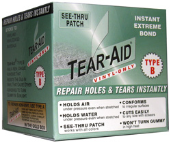 Buy A Tear-Aid Repair Kit To Painlessly And Quickly Repair Any Holes, Tears, Rips, Or Damage To Your Vinyl, Acrylic, Or Other Non-Vinyl Awning Material! Great RV Awning Repair Solution!
