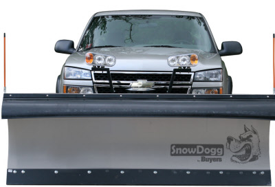 SnowDogg EX90 Stainless Steel Snow Plow - Snowdogg EX Series Plow For 3/4 Ton & Super Duty Trucks