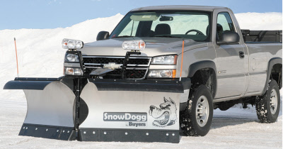 SnowDogg VXF95 Stainless Steel Heavy Duty V-Plow with Regenerative Hydraulics