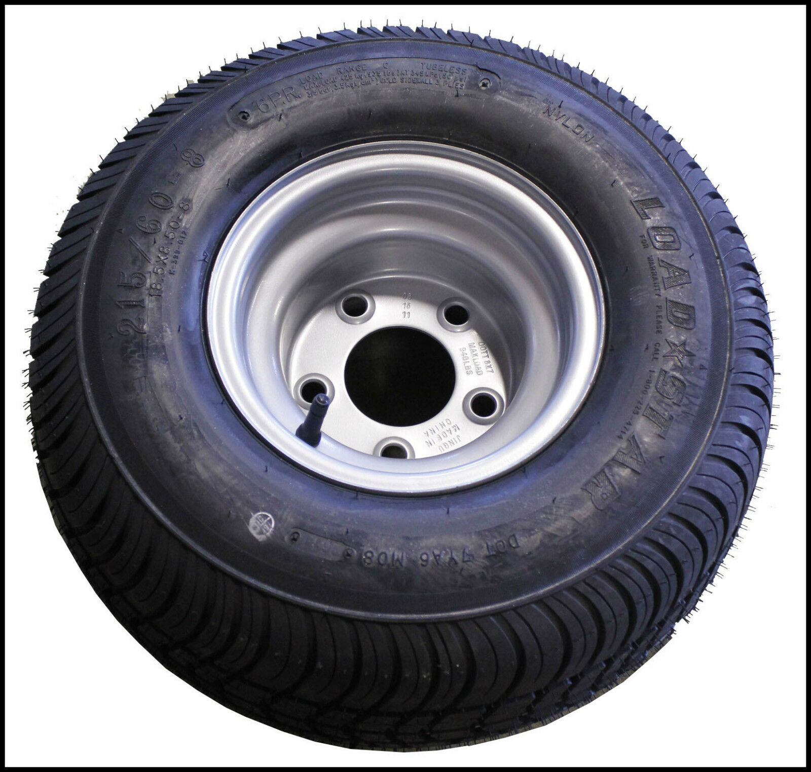 18.5 X 8.50-8 (215/60-8) Triton 02435 Class C Snowmobile Trailer Tire - Single