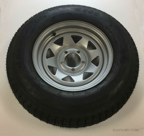 ST205/75 D14 Triton 06672 Class C Trailer Tire w/ Steel Rim Single