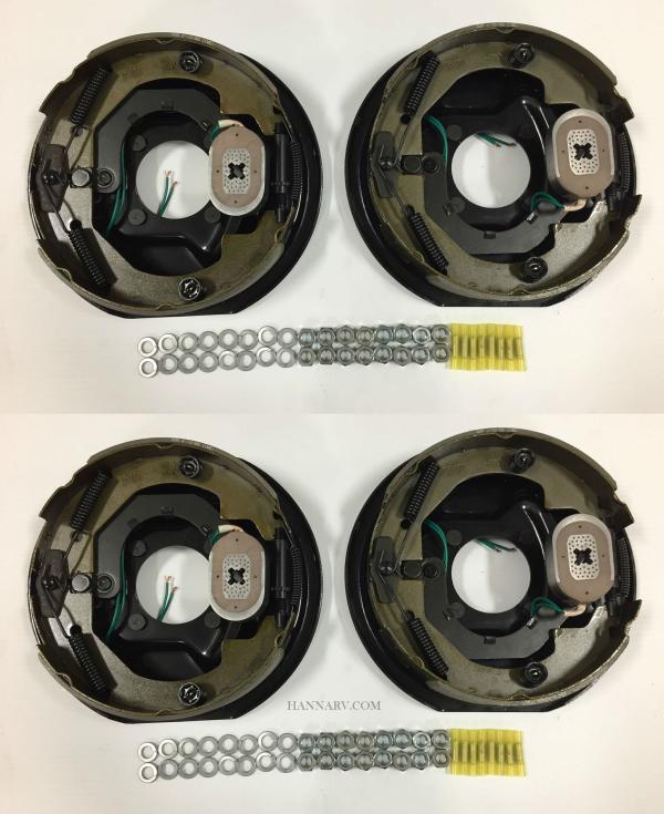 10 Inch X 2 1 4 Electric Trailer Brake Emblies Left