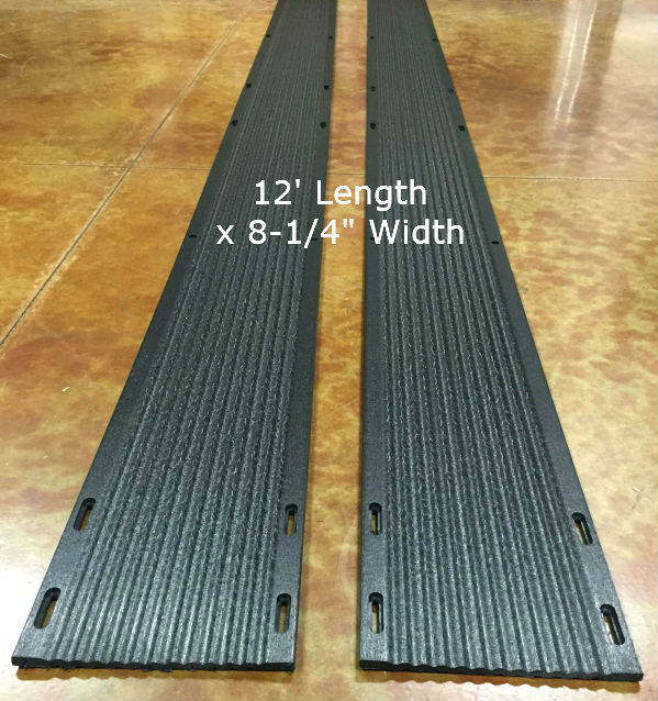 Slide Guides Inc  E-Z Off Snowmobile Trailer Ski Guides - 12 Foot Length x  8-1/4 Inch Width - Pair