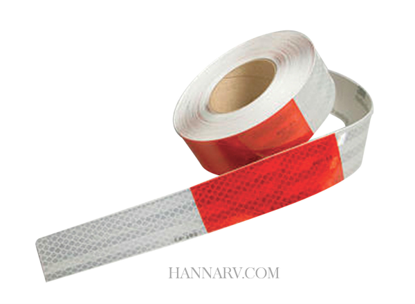 3M 22497A Conspicuity Tape - 6 Inch Red x 6 Inch White 150 Foot Roll - 5 Year Warranty