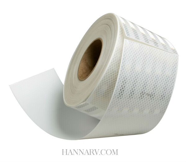 3M 22650 Conspicuity Tape White Kisscut - 150 Foot Roll 5 Year Warranty