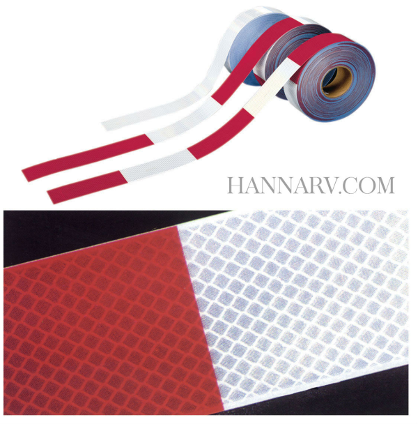 3M 29845 Conspicuity Tape - 2 Inch x 11 Inch Red / 7 Inch White Strip