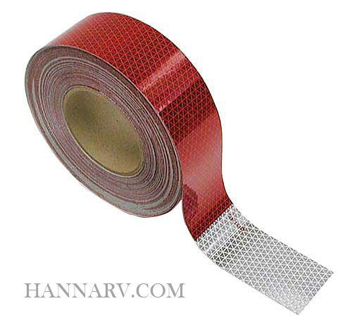 3M 29868 Conspicuity Tape 2 Inch x 11 Inch Red / 7 Inch White 150 Foot Roll
