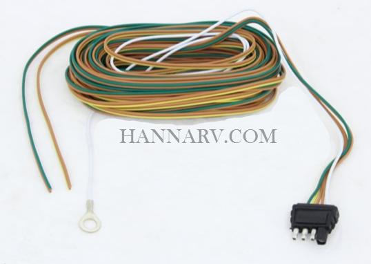 4-Way 30 Foot Molded Rubber Trailer Split Wiring Harness Kit ... on