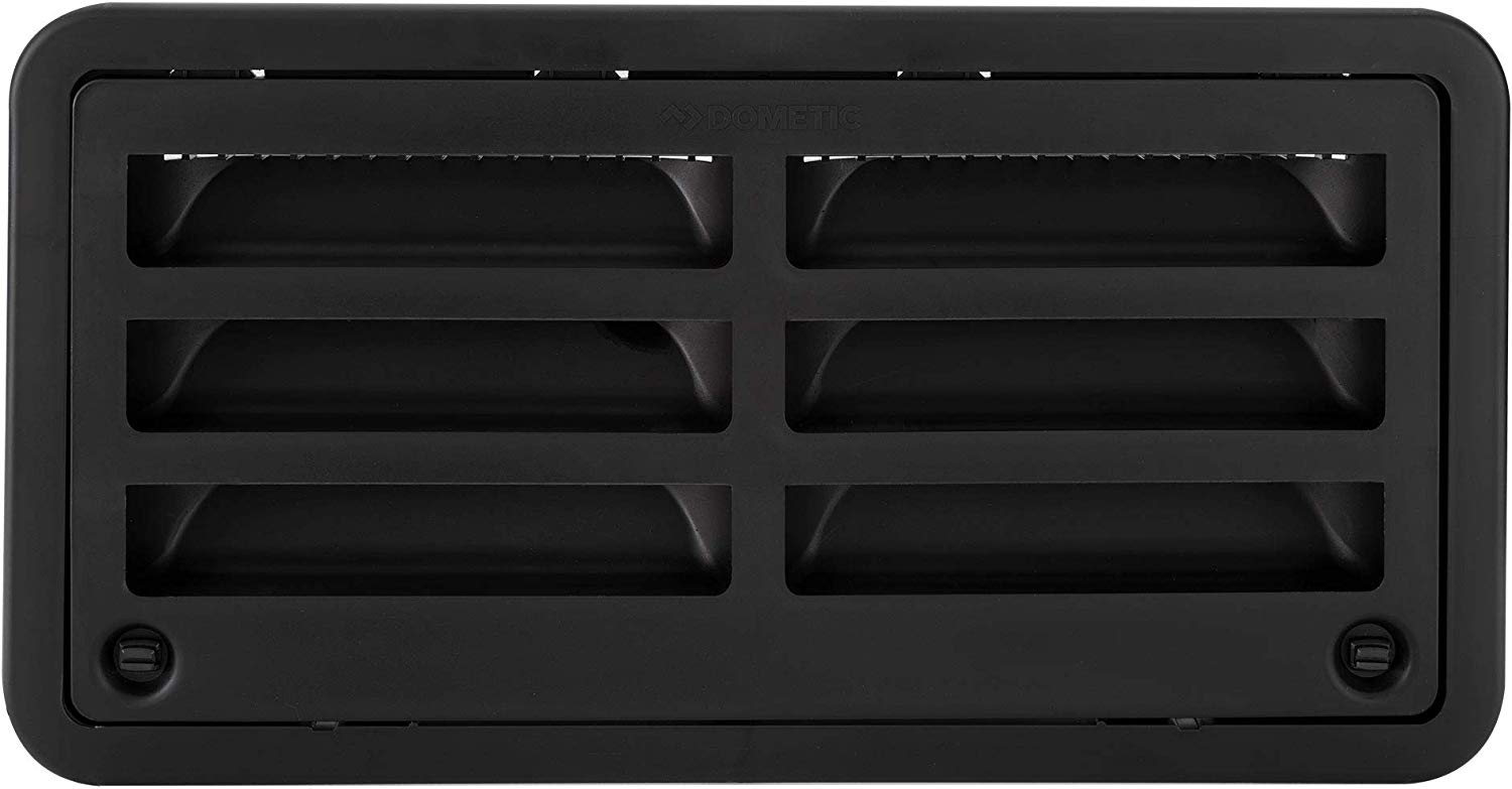 Dometic 3109492.004 20 Inch Upper/Lower Refrigerator Vent for Campers - Black