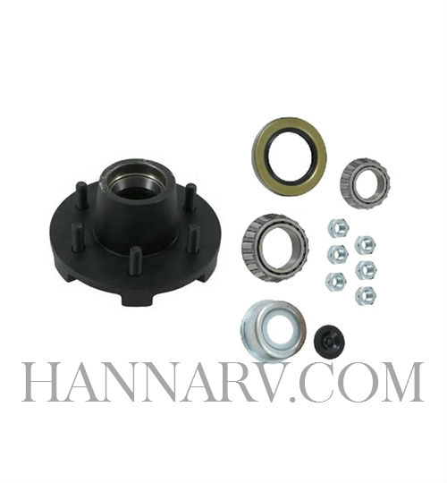 Dexter 8-213-5UC1-EZ Complete Painted E-Z Lube Hub Assembly - 6 on 5.5 - 25580/LM67048 - For 5.2K/6K