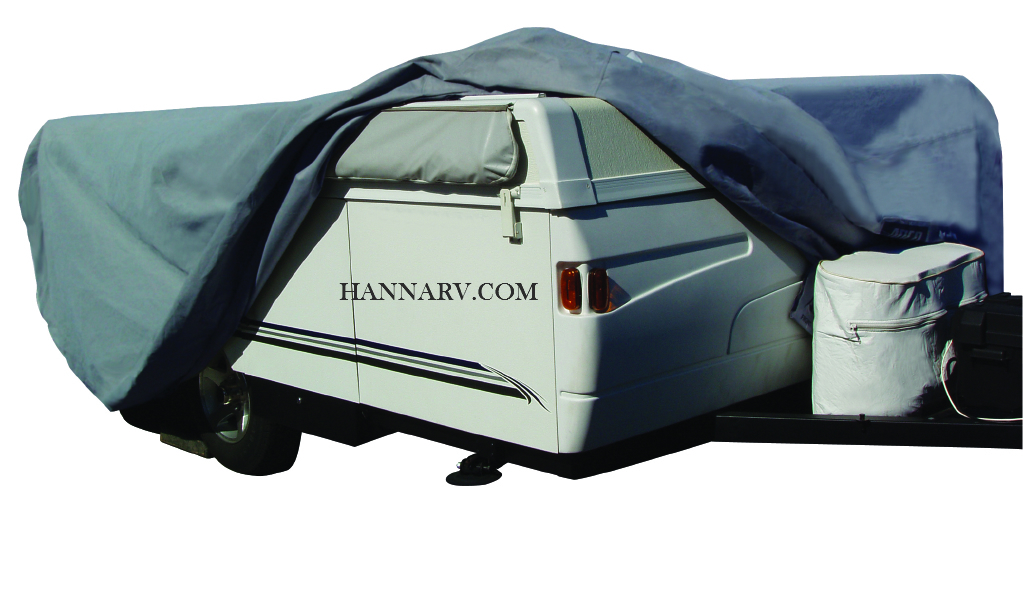 ADCO 12290 SFS Aquashed Pop-up Tent Camper Folding Trailer RV Cover For Length Up To 8-feet