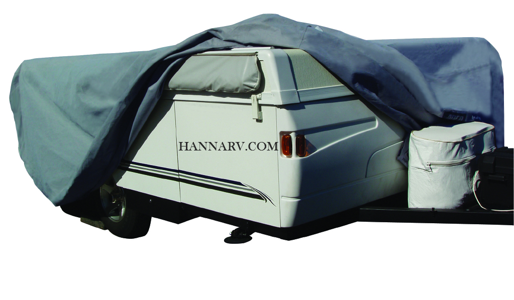ADCO 12291 SFS Aquashed Pop-up Tent Camper Folding Trailer RV Cover For Length 8-feet To 10-feet