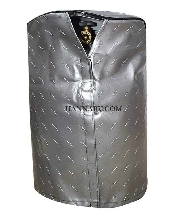 ADCO 2711 RV LP Tank Cover Diamond Plated Vinyl For Single 20 lb. Propane Bottle