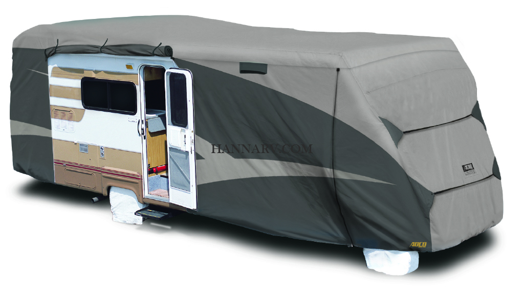 ADCO 52843 Designer Series SFS Aquashed Class C RV Cover 23-feet - 26-feet