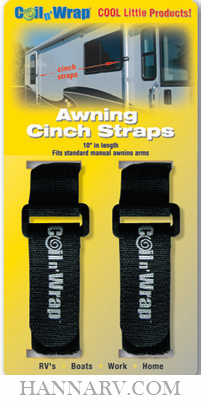 AP Products 006-75 Coil N Wrap RV Awning Cinch Straps - 2 Pack