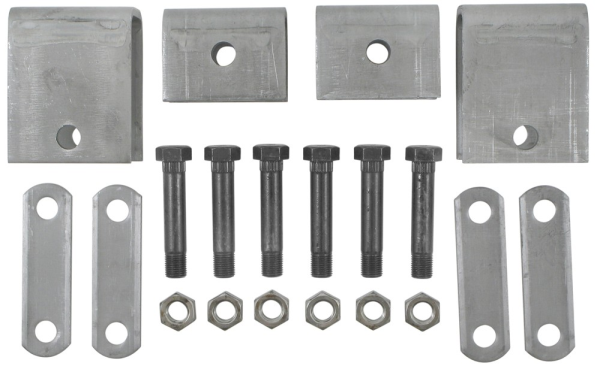 Single Axle Hanger Kit - APS4 - Boxed 1.75 Inch Double Eye Spring Hanger Kit - Front Hanger 3-1/4 In