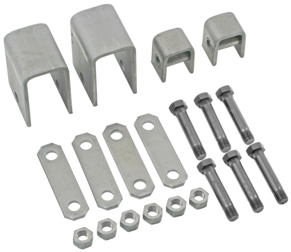 Single Axle Hanger Kit - APS5 - Boxed 1.75 Inch Double Eye Spring Hanger Kit - Front Hanger 3-1/4 In