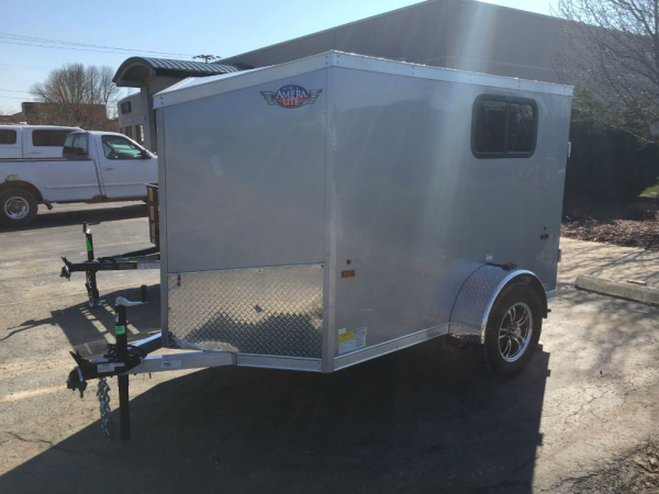 Aluminum Enclosed Trailers For Sale >> Custom Order AmeraLite All Aluminum 5 X 8 Enclosed Cargo Trailer with Windows | Hanna Trailer Supply