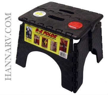B & R Plastics Inc. 101-6BK Black Folding Step Stool