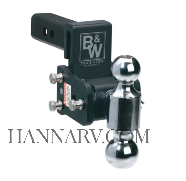 B and W Trailer Hitches TS10037B TOW and STOW - RECEIVER HITCH MODEL 8 Dual Ball