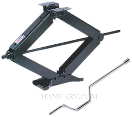 BAL 24002C Black Leveling Scissor Jacks 24 Inches With Handle