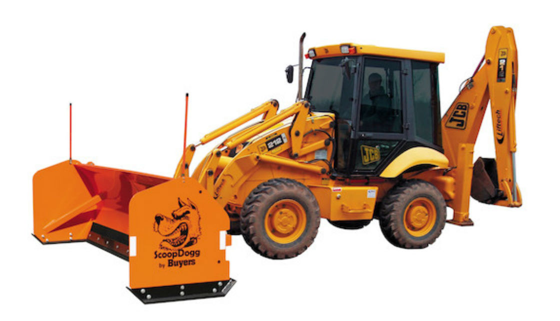 ScoopDogg Model 2612112 Trip Edge Backhoe Snow Pusher - 12 Foot Wide Pusher for 15,000+ lb. Backhoes