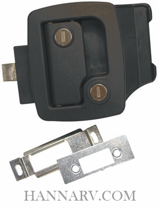 Bauer BP8LP Black Flush Mount Door Lock with Dead Bolt