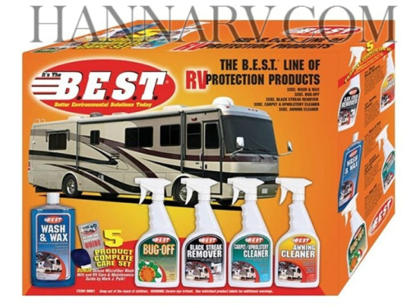 Best Products 99001 Complete 5-Piece RV Care Kit