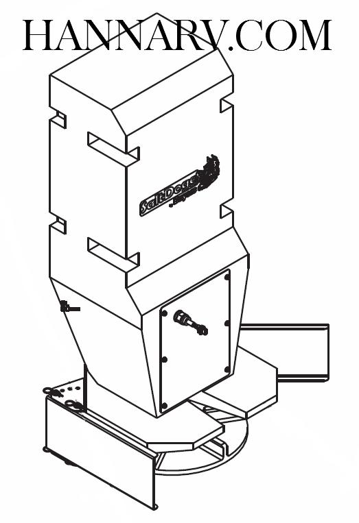 buyers 3019913 chute assembly for saltdogg shpe2250 salt spreader