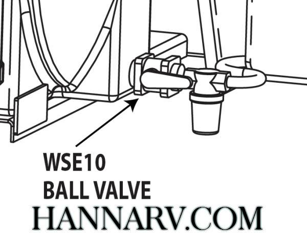 Buyers WSE10 1/2 Inch NPT Polypropylene Ball Valve - Fits Buyers LS1 Liquid Spray System
