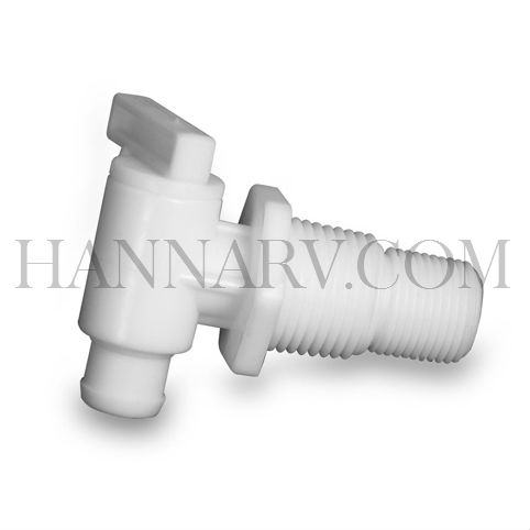Camco 22243 Dual-Size Drain Valve - 3/8 Or 1/2 Inch MPT Barb Without Flange