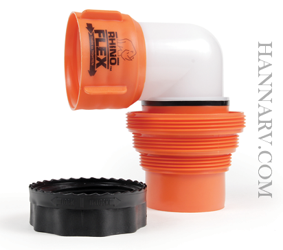 Camco 39733 Rhinoflex Rv Sewer Hose Elbow With 4 In 1 Adapter Hanna Trailer Supply