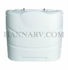 Camco 40542 Hard Plastic Polar White Polypropylene 30 lb. Propane Tank Cover For Double LP Gas Tanks