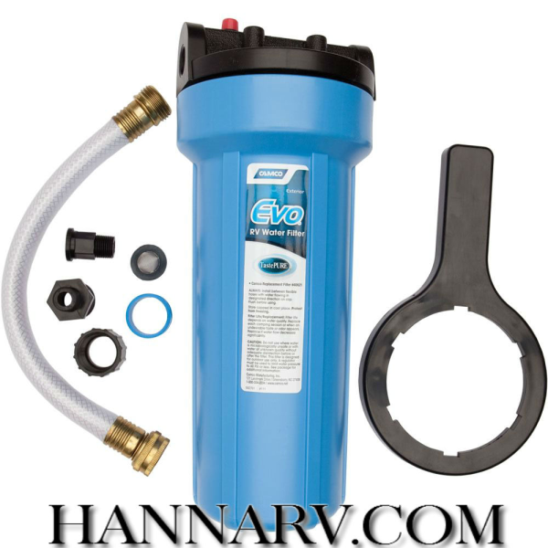 Camco 40631 Evo Premium Rv Water Filter With Housing Hanna Trailer Supply