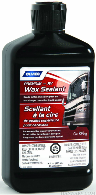 Camco 41010 Premium RV Wax Sealant 16-oz. Bottle