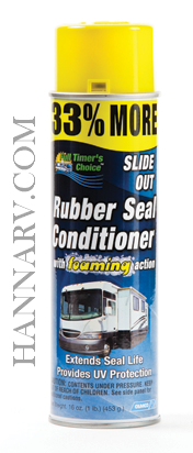 Camco 41135 Full Timers Choice Slide Out Rubber Seal Conditioner 16-oz. Can