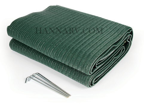 Camco 42880 Reversible Awning / Leisure Mat - 6 Foot x 9 Foot, Green
